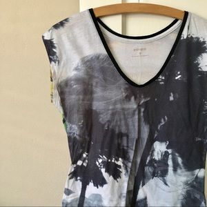 LP Express Abstract Dye Sublimation V Neck Top